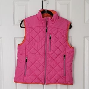 Land's end bright puffer vest